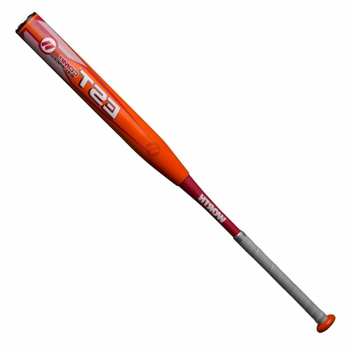 2019 est comp slowpitch softball bat balanced
