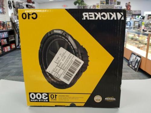 43c104 car audio 10 single 4 ohms