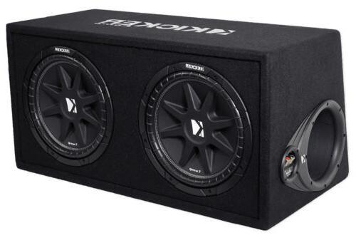 Kicker DC122 Car Audio Loaded Dual 12 Ported Comp 600W Sub B