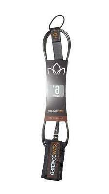 Stay Covered 6ft Comp Leash - Black / 5.5mm Cord