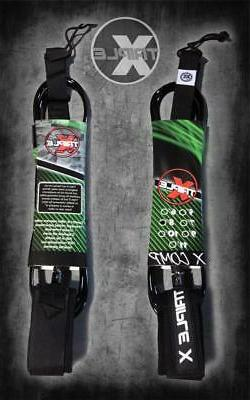 Triple X 8' X COMP Leash/Surfboard Leash/Black