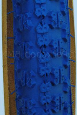 """Kenda 3 old school tires 24"""" STAGGERED BLUE"""