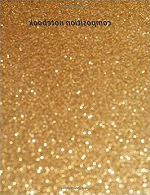 composition notebook glitter diary size 7 44x9