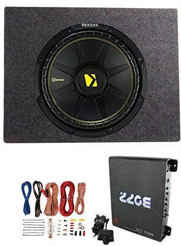 Kicker Comps 500W + Truck Enclosure + A/B Amplifier