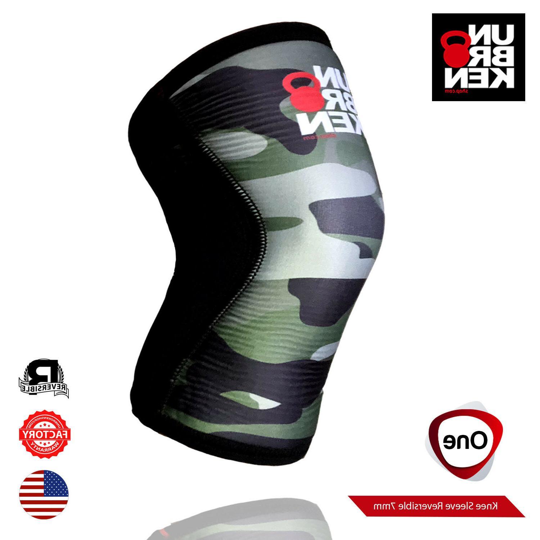 crossfit knee sleeve kneecap brace 7mm support