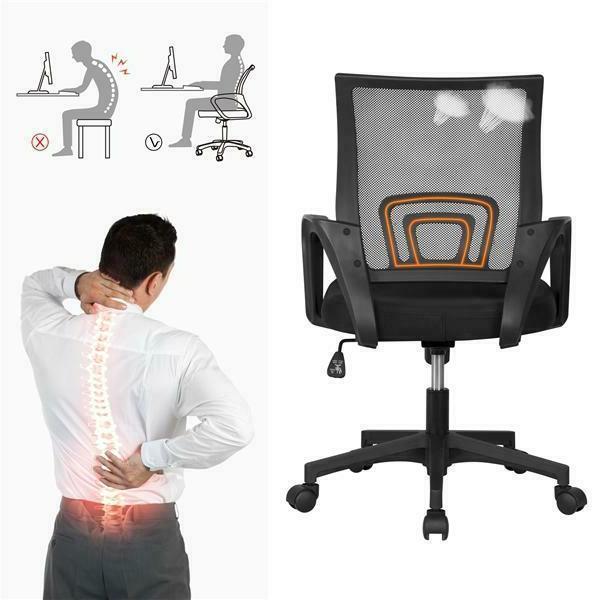 Free Mid-back Mesh Comp Chair Desk Swivel