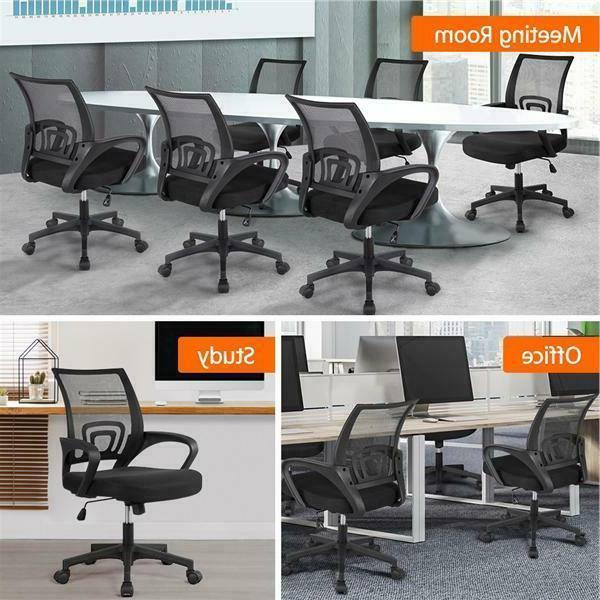 Free Ergonomic Mid-back Mesh Comp Desk