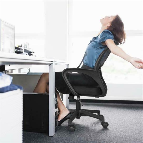 Free Shipping Ergonomic Mesh Office Desk Task Swivel Black