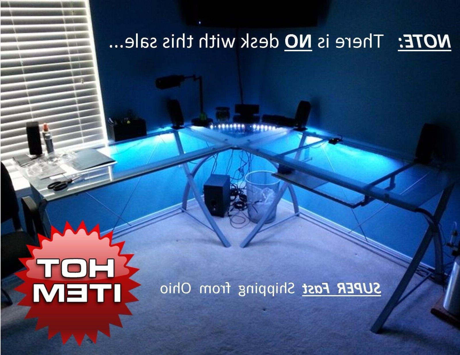 gaming computer desk lights