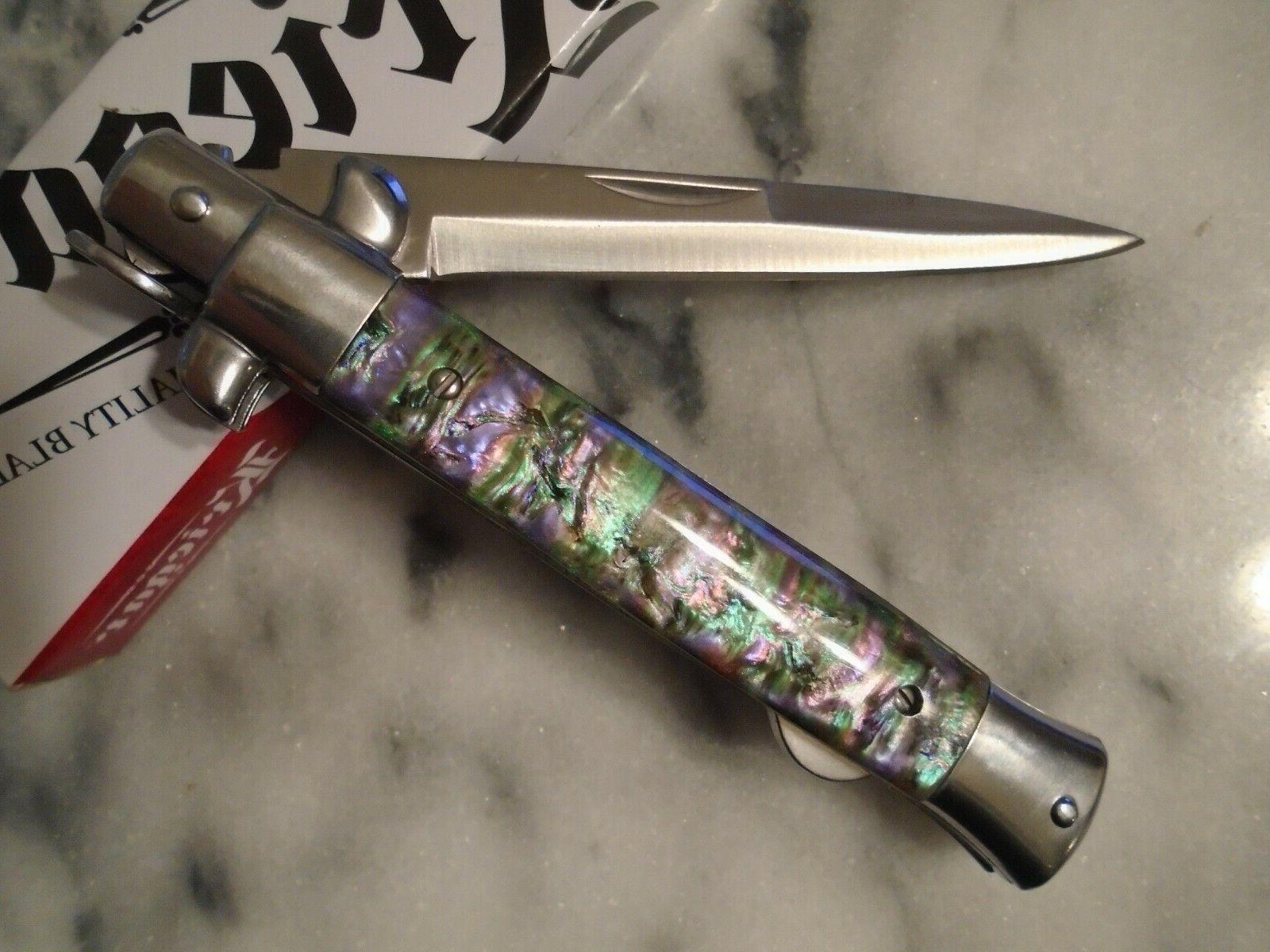 Kriegar Style Comp Stiletto Knife 440 KG189 Open