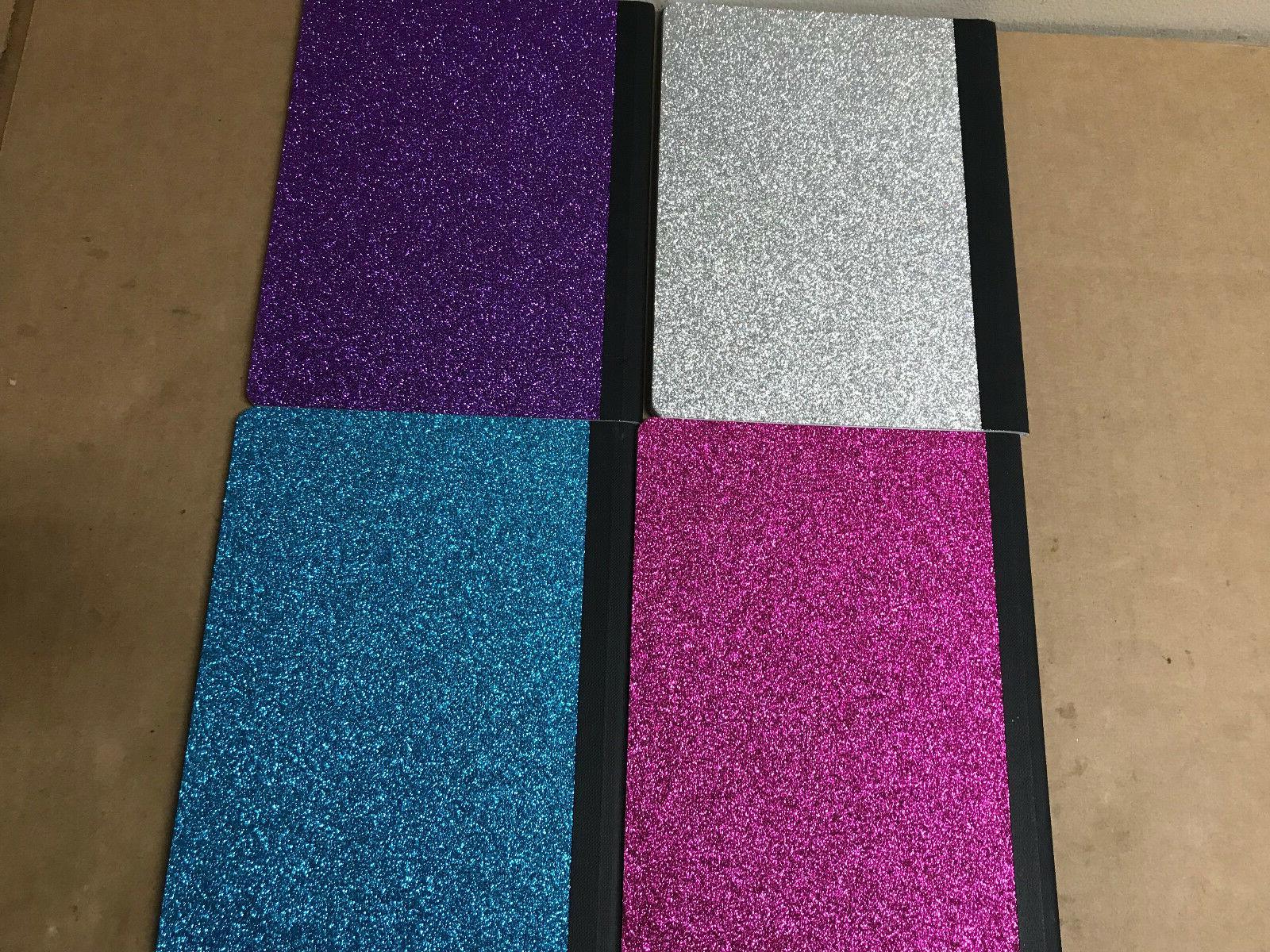 glitter composition book notebook diary journal 9