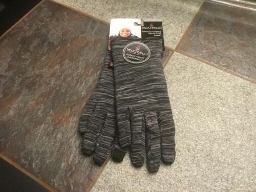 gloves ladies osfa blk tweed stretch w