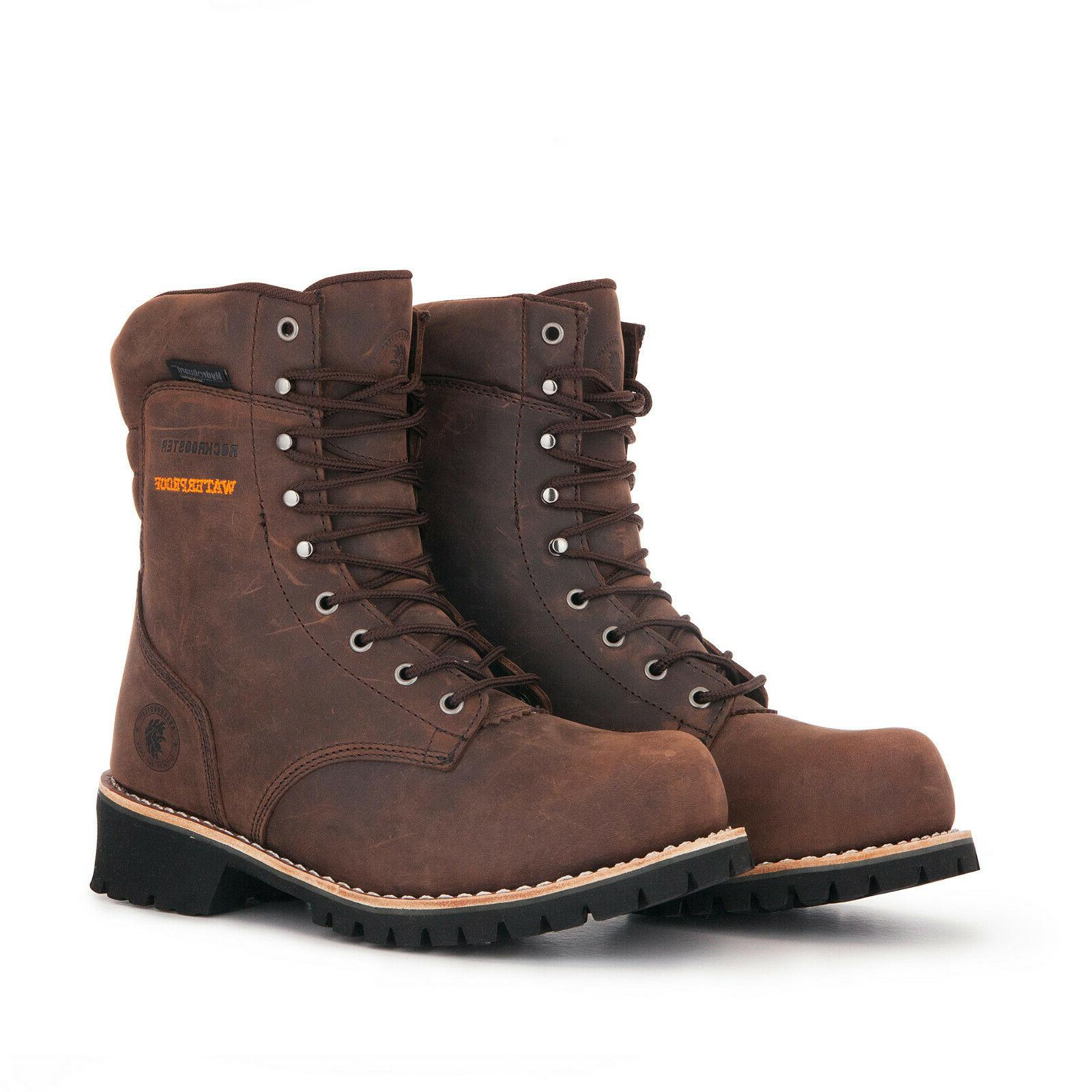men work boots composite toe lace up