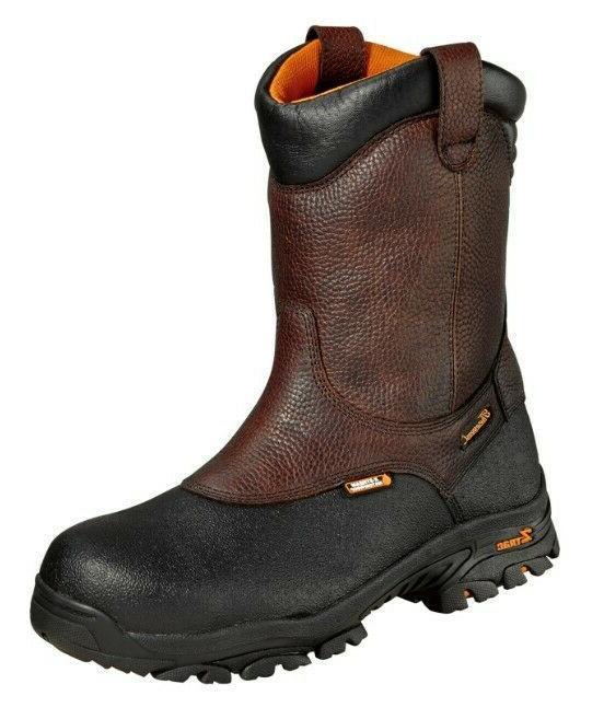 mens 8 waterproof wellington ztrac work boots