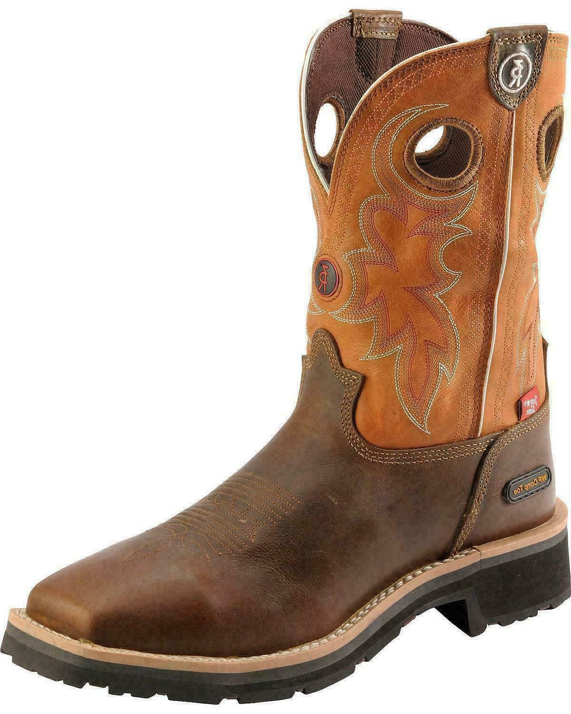 mens midland rust waterproof comp toe work