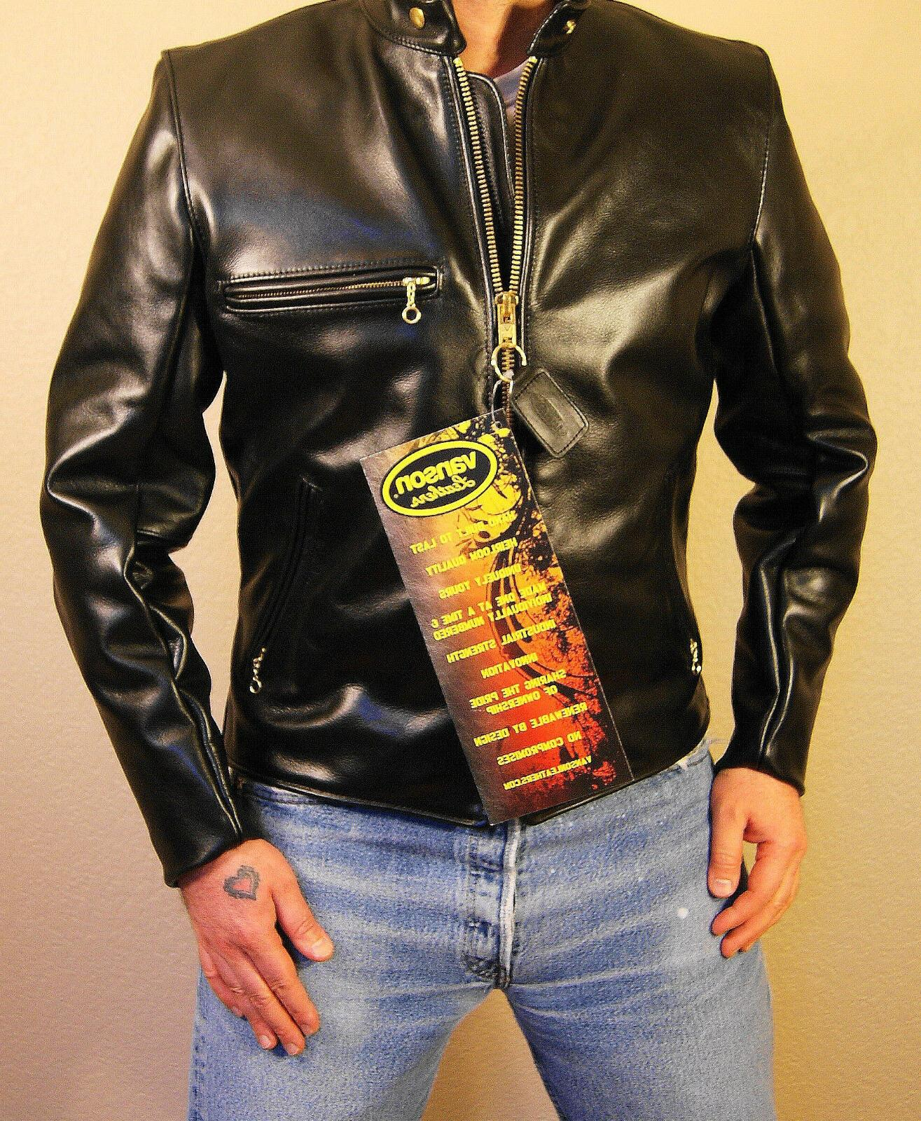 model b black comp weight leather jacket