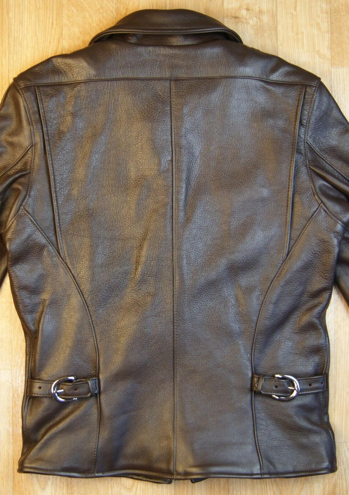 Vanson Brown Comp. Weight Leather Jacket, IN