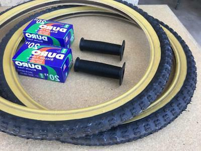 "PAIR 20"" Bicycle BLACK MX3 Tires/Tubes 20X1.75 *FREE"