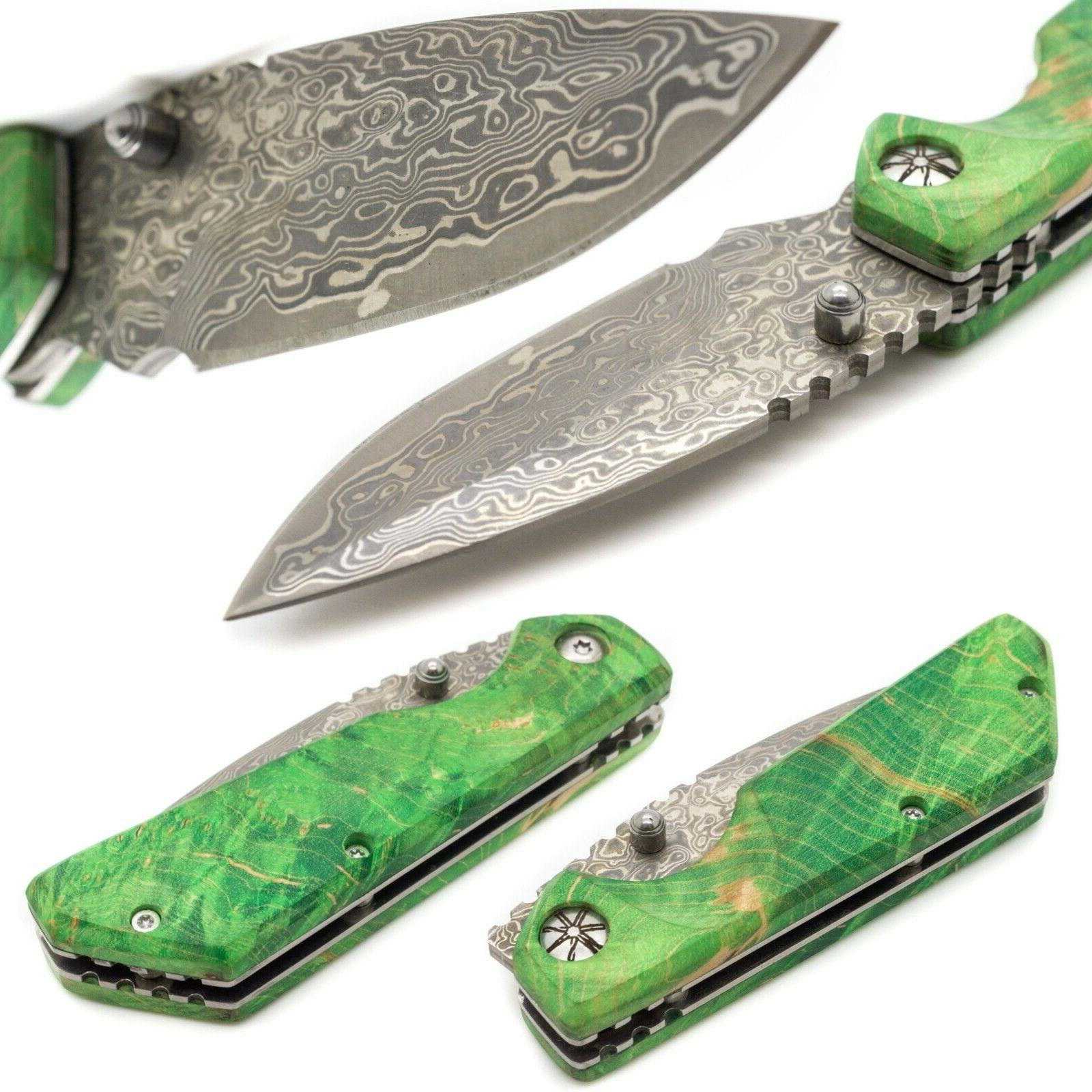 pocket knife stabilized wood w 3 inch