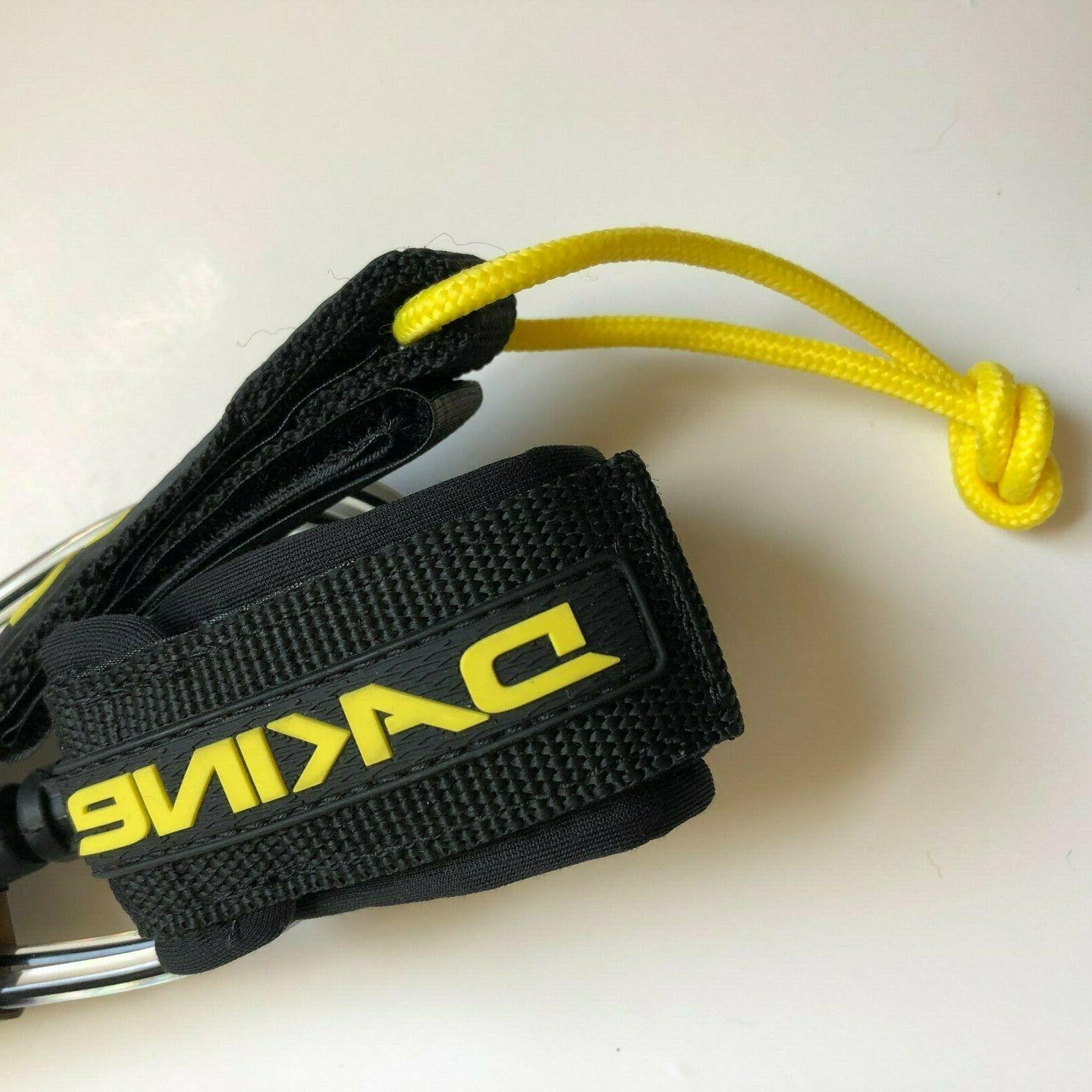 "Dakine Pro Comp 6' x 3/16"" Surf BLACK/CLEAR -BRAND NEW FREE SHIP"
