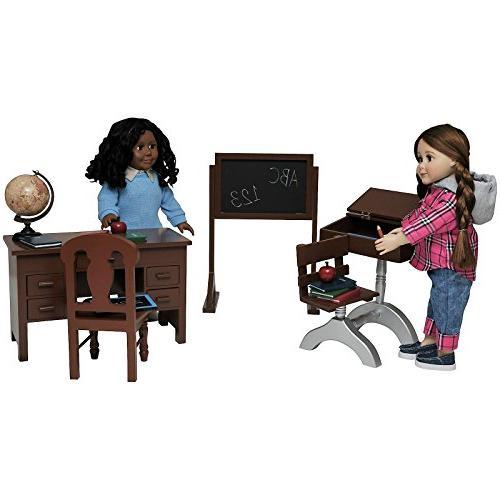 teacher student american classroom desks