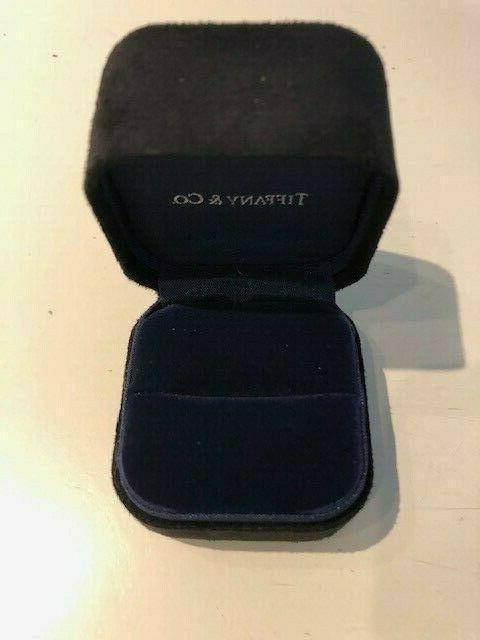 Tiffany&Co Black Fine Jewelry Ring Box with Blue Box.