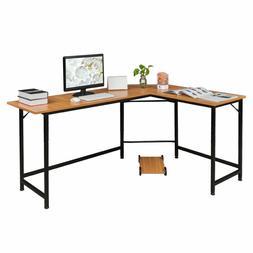 L-Shaped Corner Computer Desk Home Office Study Laptop PC Wo