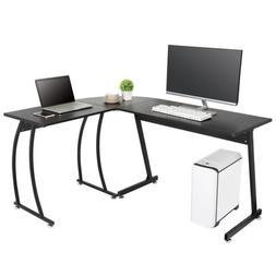 L Shaped Desk Corner Computer Gaming Laptop Table Workstatio