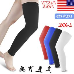 Leg Knee Sleeve Sport Compression Socks Stocking High Reliev