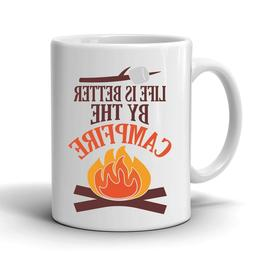 Life is Better by the Campfire Coffee Mug, Camping, Outdoors