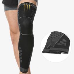 Long Compression Knee Brace Basketball Sport High Thigh Leg
