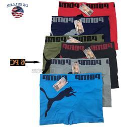 Lot 6 Pack Mens Microfiber Boxer Briefs Underwear Compressio