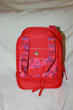 Lunch Bag/Box Thermal Insulated 2 Compartment Microban Antim