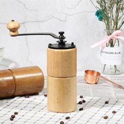 Manual Wooden Coffee Bean Grinder Cast Iron Burr Hand Mill T