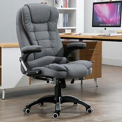 Massaging Reclinable Home Office Computer Desk Chair Upholst