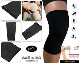 medical compression elastic support knee sleeve brace