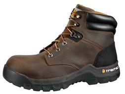 CARHARTT MEN'S 6 inch Brown Work Flex Work Boot CMF6366 Comp