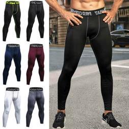 Men's Compression Base Layer Gym  Sports Pants Leggings Tigh