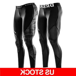 DRSKIN Mens Compression Tight Base Layer Gym Sports Leggings