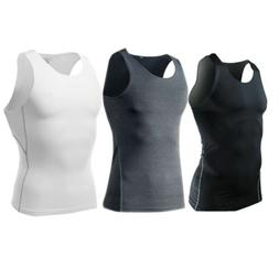 Men's Gym Compression Shirt Shorts Vest Body Shaper Tank Top