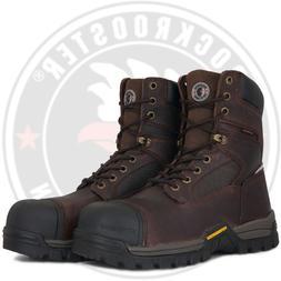 ROCKROOSTER Men's Waterproof Work Boot Composite Toe Lace up