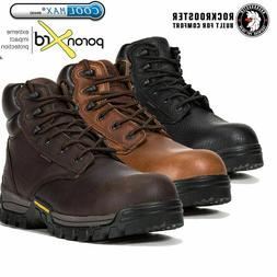 ROCKROOSTER Men's Work Boots Composite Toe Anti Puncture Res