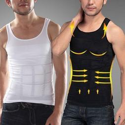 Men Vest Tank Top Slimming Belly T-Shirt Body Shaper Compres