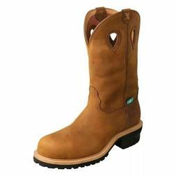 "Mens Twisted X 12"" Waterproof Logger Comp Toe Boot MLGCW01"