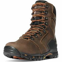 """Danner Mens 13874 Vicious 8"""" Brown Insulated 400G Comp Toe N"""
