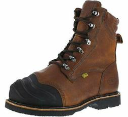 Iron Age Mens Brown Leather Met Guard Work Boots Thermo Shie