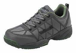 Nautilus Mens Grey/Green Leather/Mesh Comp Toe Athletic Work