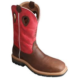 Twisted X Mens Red Leather Comp Toe WP Lite Weight Cowboy Wo