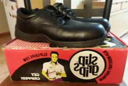 SLIP GRIPS MENS SAFETY WORK BOOTS BLACK COMPOSITE TOE SIZE 1