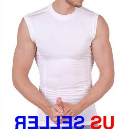 ARMEDES Mens Sleeveless T-Shirt Cool Dry Compression Baselay